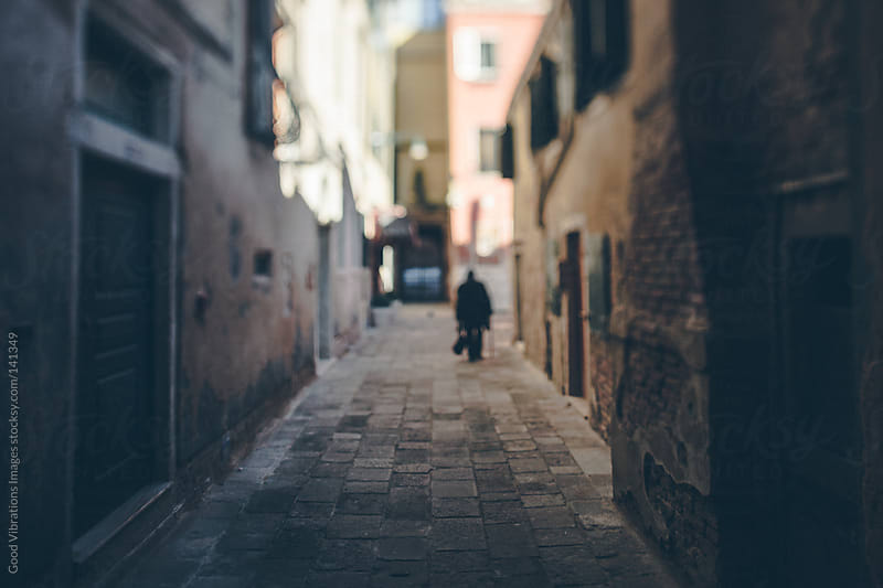 Alleyway in Venice by Good Vibrations Images for Stocksy United