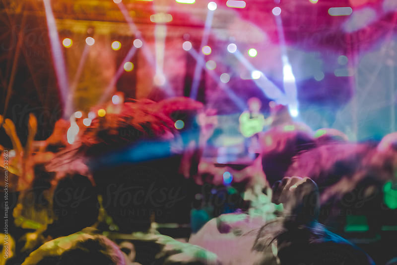 Crowd in a music show by Good Vibrations Images for Stocksy United