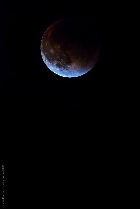 Blood Moon Eclipse by Evan Dalen for Stocksy United