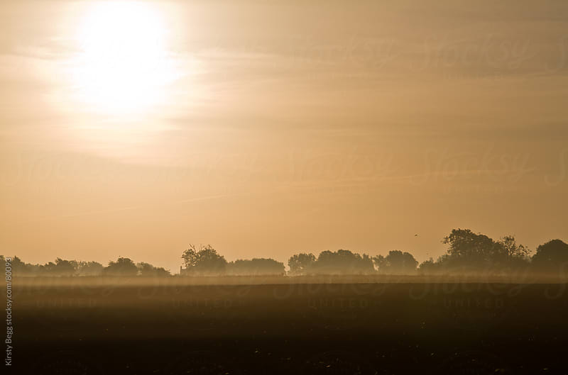 English Countryside at Sunrise by Kirsty Begg for Stocksy United