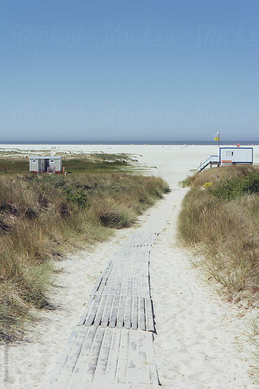 Path leading to the beach by Robert Kohlhuber for Stocksy United