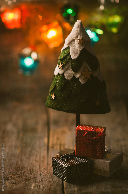 Christmas Tree With Gifts  by Branislav Jovanovic for Stocksy United