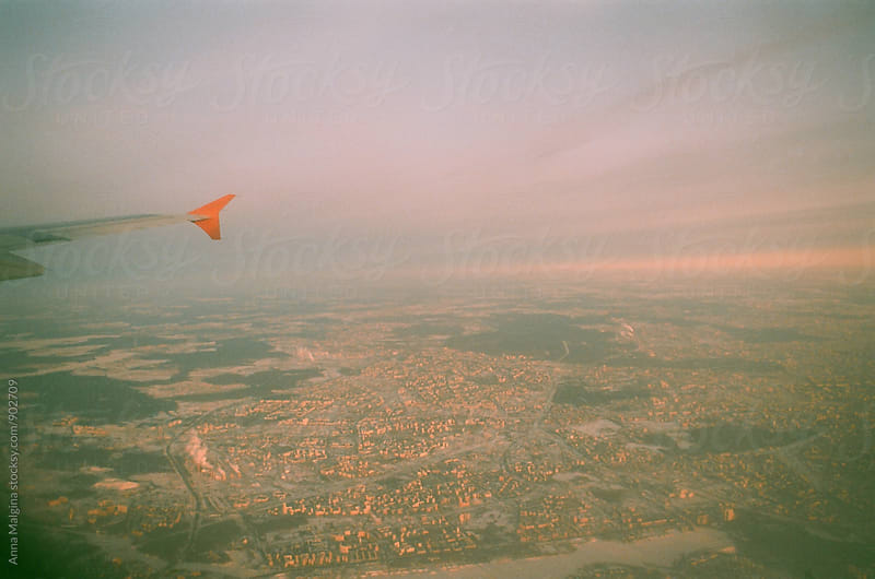 A film photo of a view from airplane  by Anna Malgina for Stocksy United