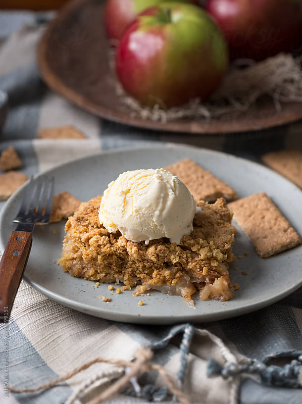 Apple Cobler with Ice Cream by Jeff Wasserman for Stocksy United