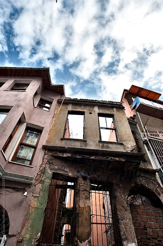 View of building architecture in Balat and Fener, Istanbul neighborhood by Jean-Claude Manfredi for Stocksy United