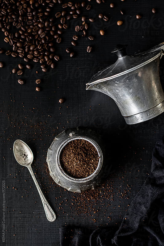 Preparing coffee with italian coffee maker by KEMA Food Culture for Stocksy United