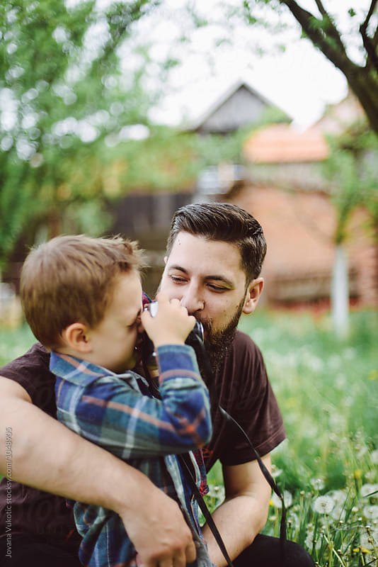Father and son by Jovana Vukotic for Stocksy United
