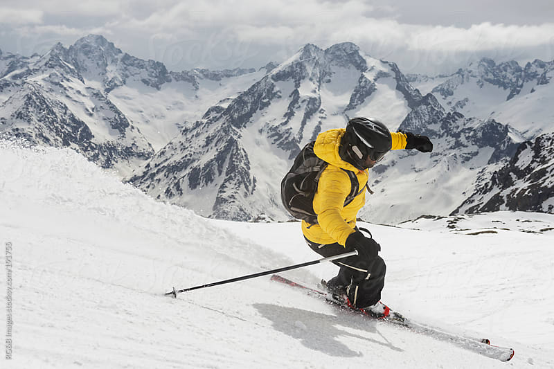 Skiing in Alps  by RG&B Images for Stocksy United