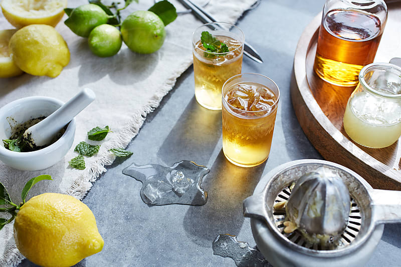 Fresh summer cocktails  by Trinette Reed for Stocksy United