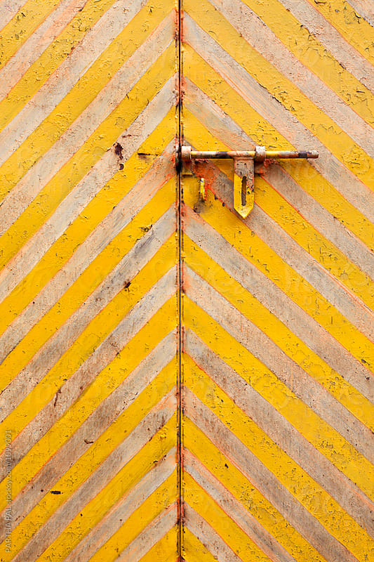Colorful background with hatch bolt by PARTHA PAL for Stocksy United
