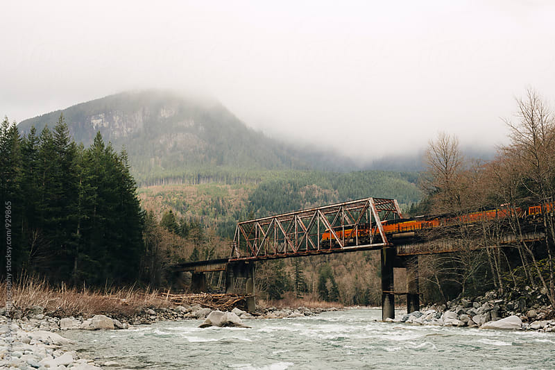 PNW Train by Sara K Byrne Photography for Stocksy United