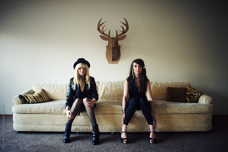 Couch Girls by Kevin Russ for Stocksy United