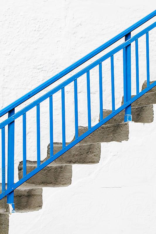 Detail shot of typical staircase in Greece by Aleksandar Novoselski for Stocksy United