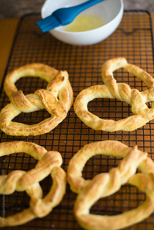 Homemade pretzels by Carolyn Lagattuta for Stocksy United