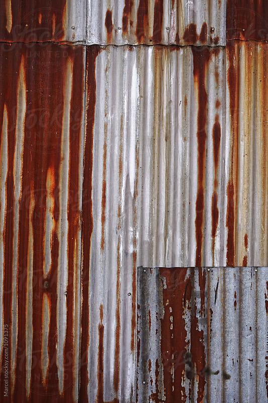 Rusty metal wall panel by Marcel for Stocksy United