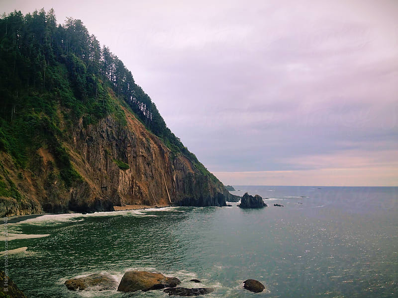 Cliff By The Oregon Coast by B. Harvey for Stocksy United