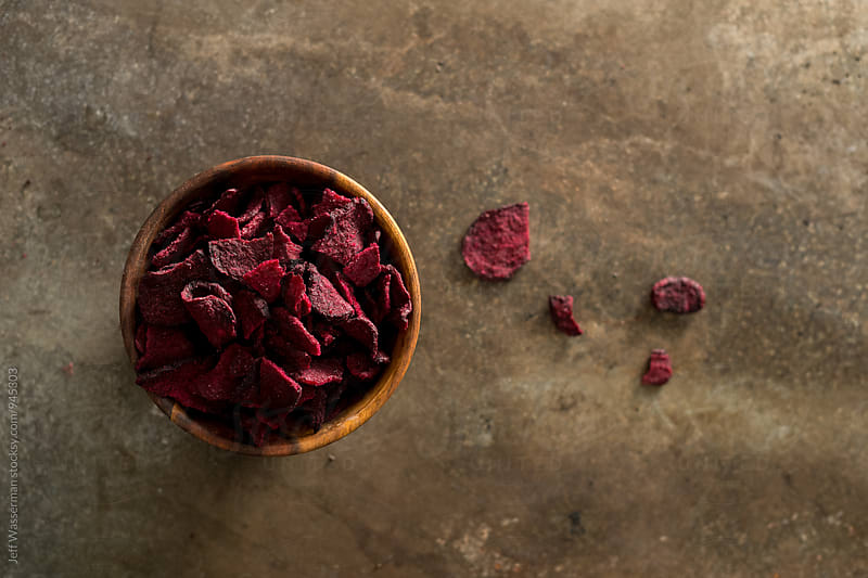 Beetroot Chips From Above by Studio Six for Stocksy United