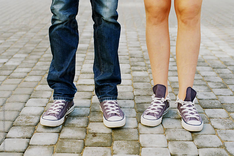 Couple wearing same sneakers by Lyuba Burakova for Stocksy United