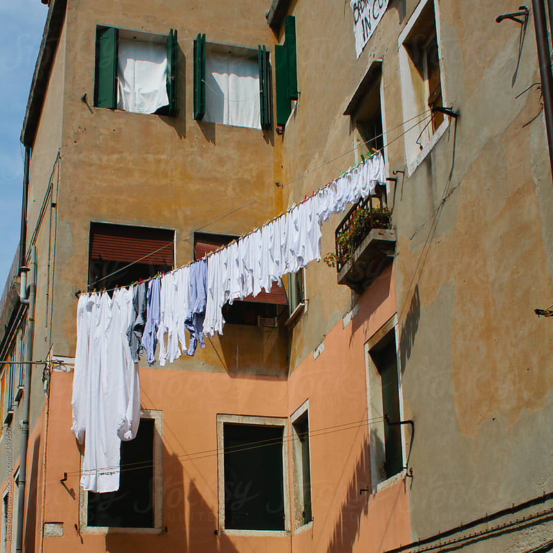 Laundry day in Italy by Jesse Morrow for Stocksy United