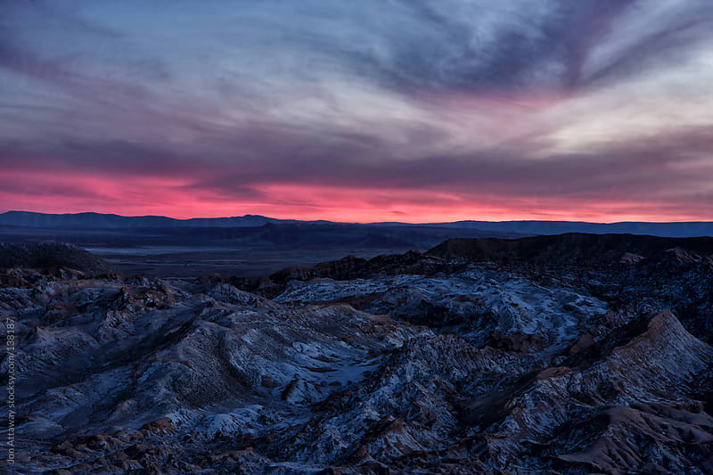 Dusk over the Atacama desert by Jon Attaway for Stocksy United