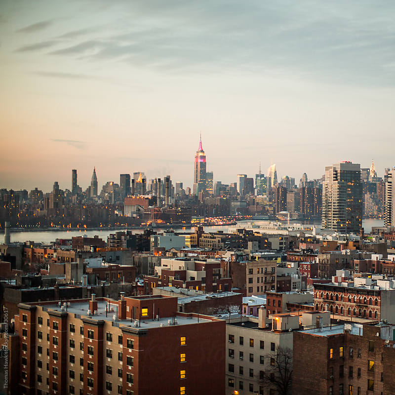 New York Cityscape from Brooklyn by Thomas Hawk for Stocksy United