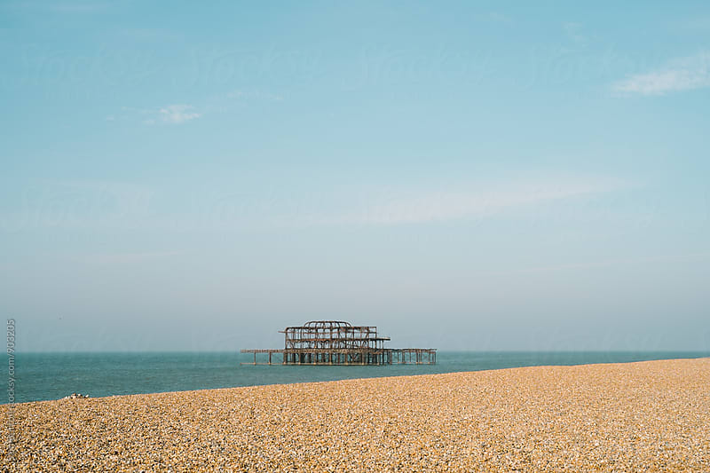 Old Brighton Pier by Sam Burton for Stocksy United