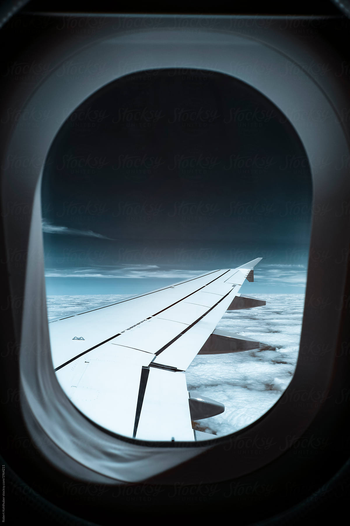 View Out Of Airplane Window At Sky Shot In Infrared Ir By Robert