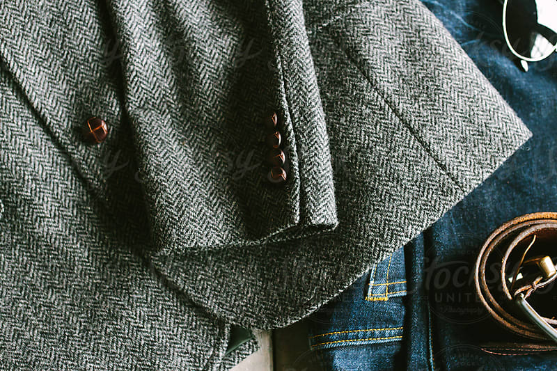 Tweed and denim by Helen Rushbrook for Stocksy United