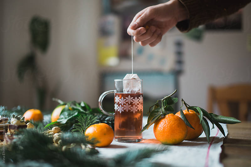 Winter orange spiced tea by Irina Efremova for Stocksy United