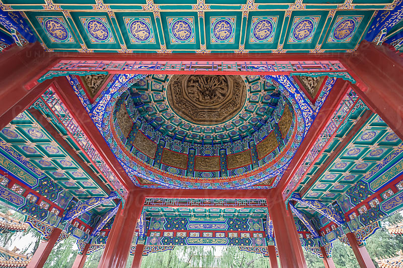 Chinese Architecture by Helen Sotiriadis for Stocksy United