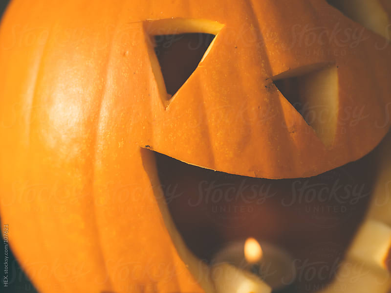 Scary Halloween Jack o' Lantern by HEX. for Stocksy United
