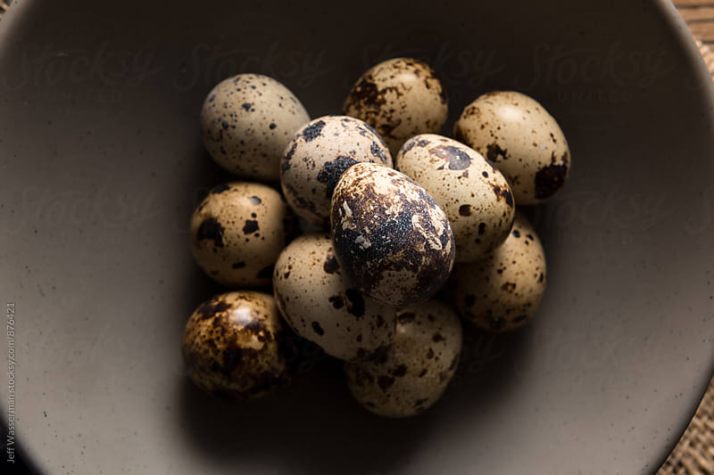 Quail Eggs in Bowl by Jeff Wasserman for Stocksy United