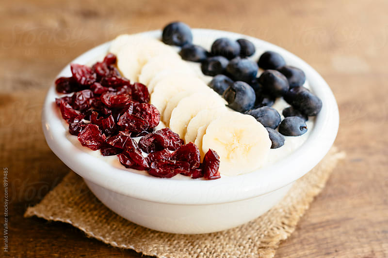 Red, White and Blue Smoothie Bowl by Harald Walker for Stocksy United