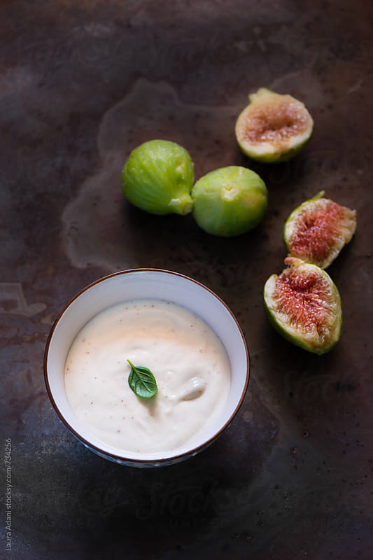 ricotta cream with figs smoothie by Laura Adani for Stocksy United