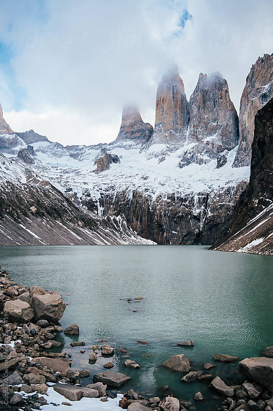 Torres del Paine in the beginnings of chilean winter by Constanza Caiceo for Stocksy United