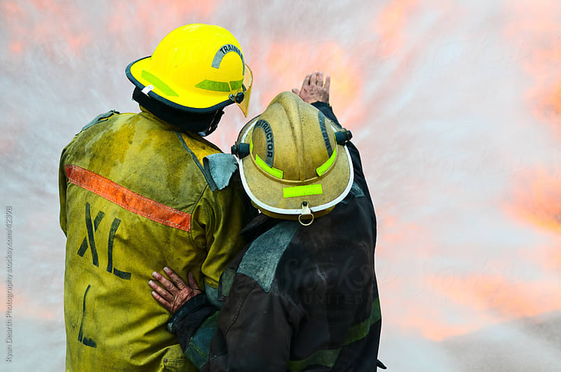 Firefighting Instruction by Ryan Dearth Photography for Stocksy United