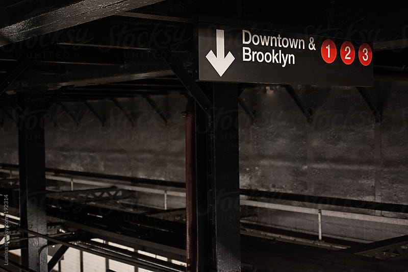 New York Subway Sign by Lumina for Stocksy United