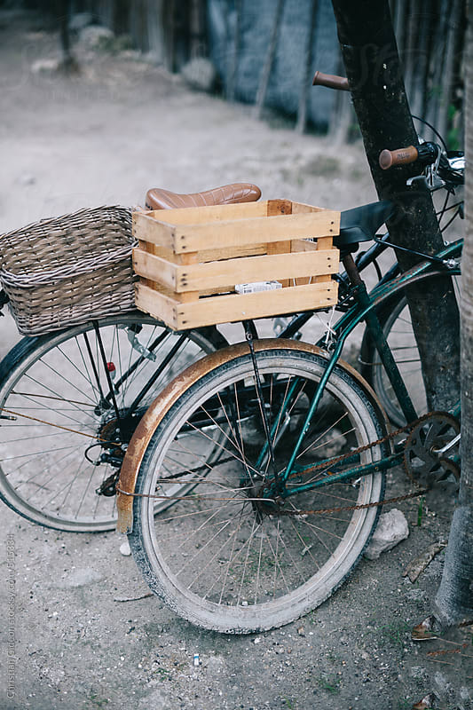 Bikes with crate by Christian Gideon for Stocksy United