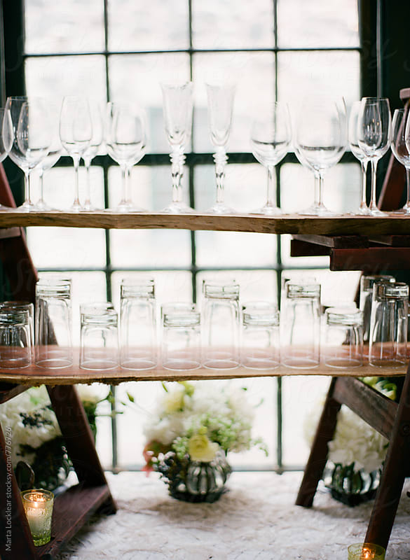 Glassware display by Marta Locklear for Stocksy United