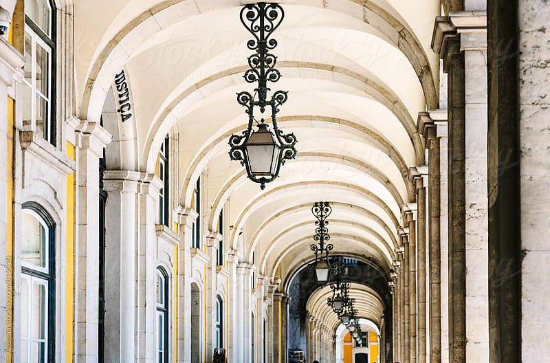 Lisbon Arcade by Agencia for Stocksy United