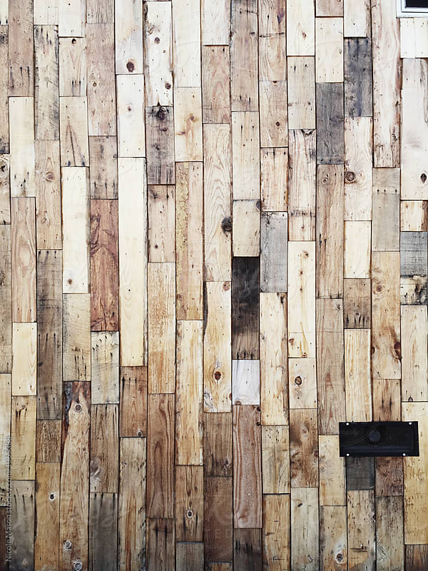 rustic modern wood panel pattern by Nicole Mason for Stocksy United