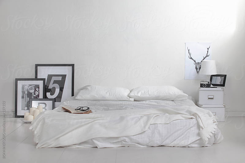 The white bedroom by BONNINSTUDIO for Stocksy United
