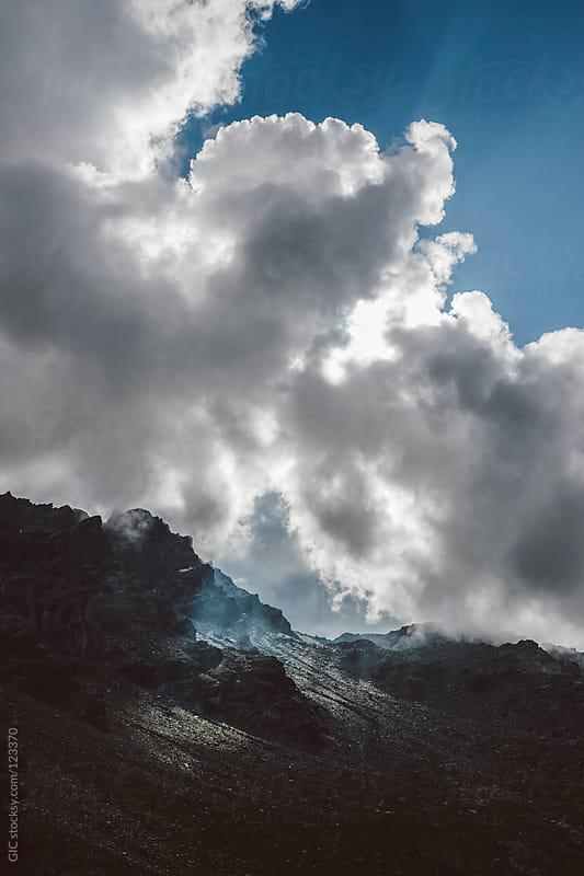 Sun beam on the mountain peak by GIC for Stocksy United