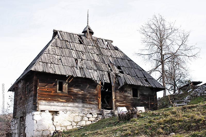 Old mountain wooden house by Bratislav Nadezdic for Stocksy United