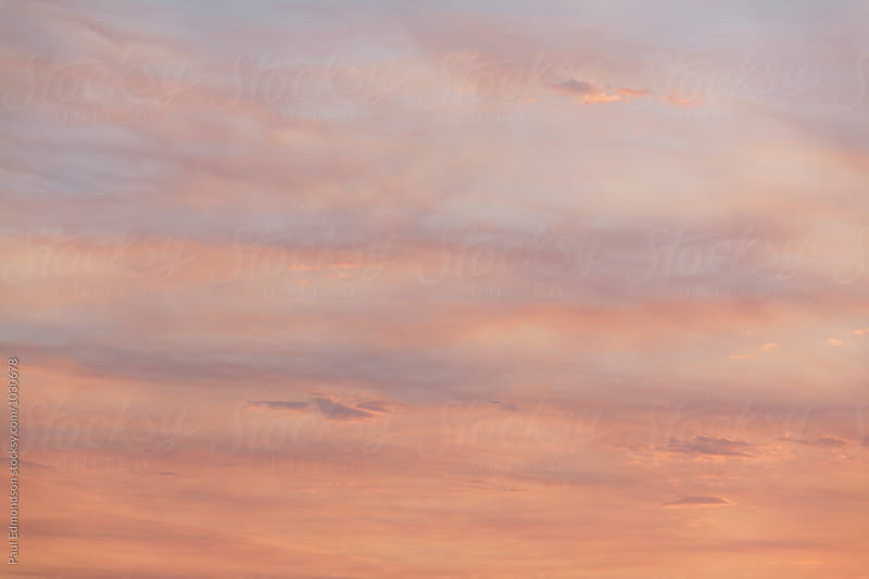 Sky and clouds at dusk, Utah by Paul Edmondson for Stocksy United