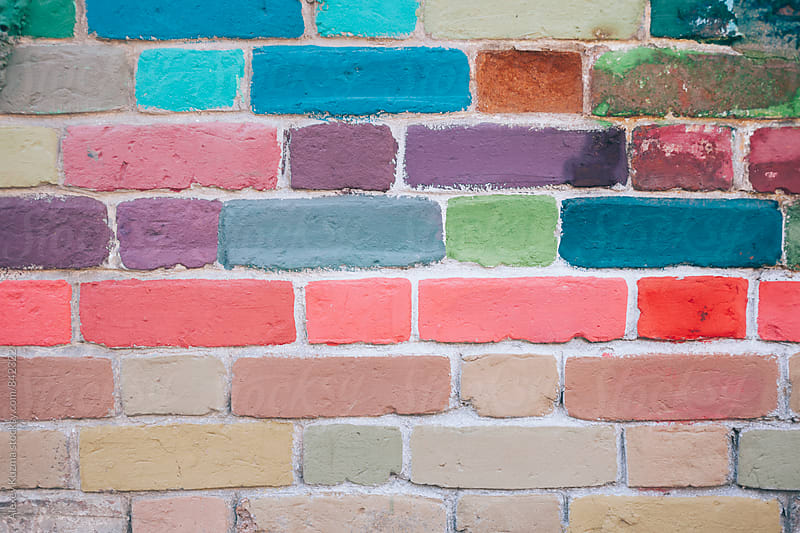 colour painting bricks  by Alexey Kuzma for Stocksy United