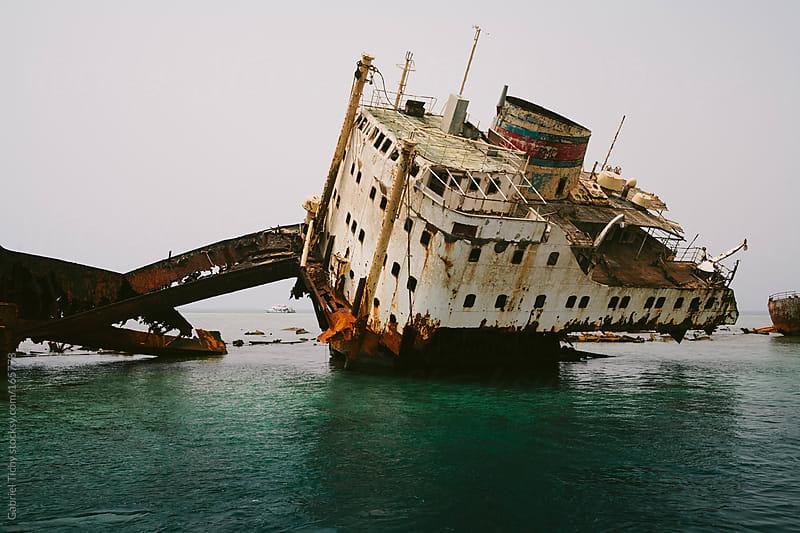 Shipwreck in Red Sea by Gabriel Tichy for Stocksy United