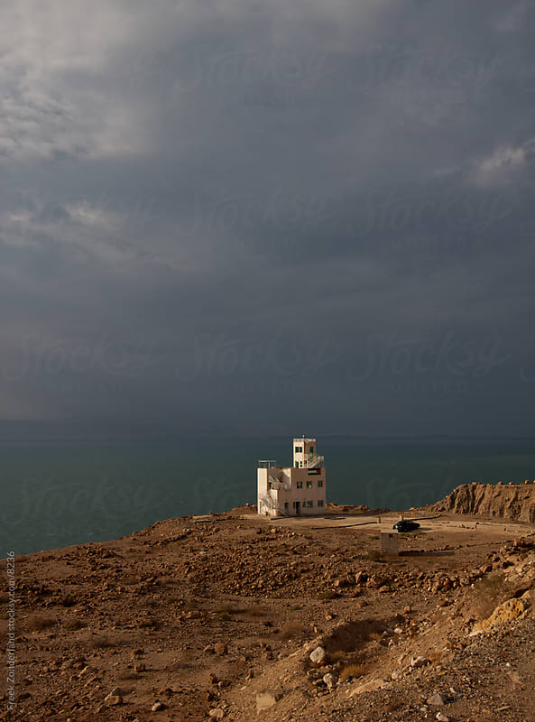 Border Guard Tower - Jordan by Freek Zonderland for Stocksy United
