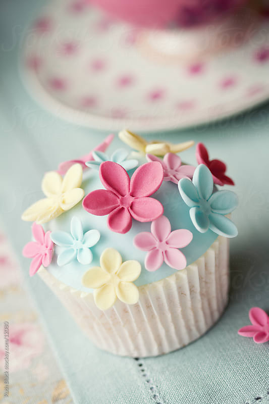 Flower cupcake by Ruth Black for Stocksy United
