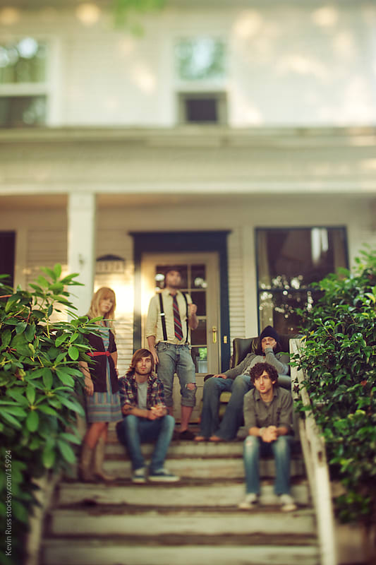 Tilt-Shifted Porch Group by Kevin Russ for Stocksy United